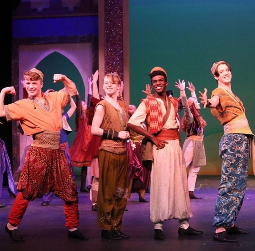 Maddox Cox performs in the Spartanburg Youth Theatre's production of Aladdin.