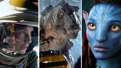 The power of CGI displayed in blockbuster films. Films from left to right: Gravity by Alfonso Cuaron, Jurassic Park by Steven Spielberg, and Avatar by James Cameron.
