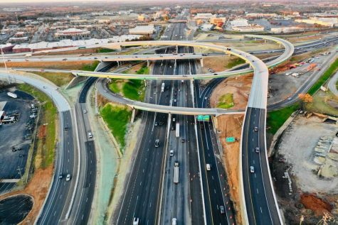 Providing an easier way to change interstates near Greenville, the new I-85 interchange has lessened the amount of traffic substantially.