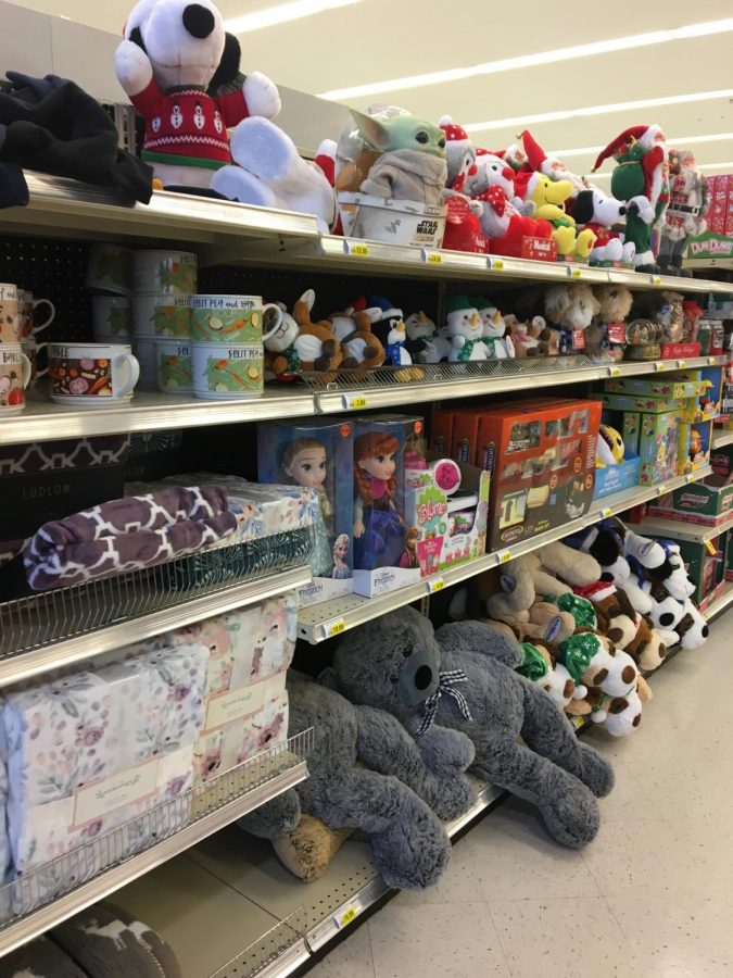 Seasonal items like toys and games fill the shelves of Spartanburg's grocery stores. Those that do not sell will be thrown out after the holiday season.