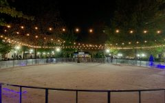 Citizens get a first-look at the newly established ice rink in Downtown Spartanburg.