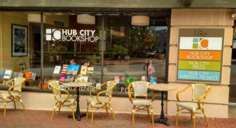 One of the many shops downtown is the Hub City Bookstore, the perfect place to shop for gifts during the Christmas season.