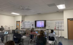 Kim McAbee's chemistry class learns about acids from one of Bill Nye's entertaining and informative videos.