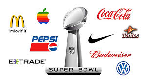 Popular companies compete for inclusion in Super Bowl commercials, including Nike, Apple, and Pepsi.