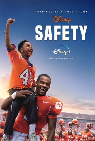 "The ""Safety"" movie poster illustrates the bond between Ray, Fahmarr, and the Clemson football team."
