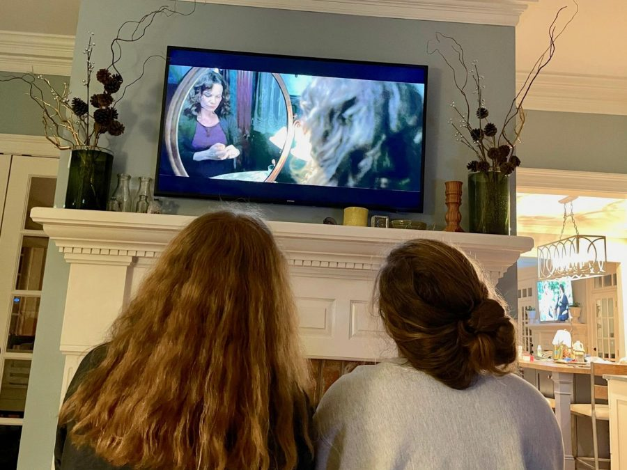 Anna Wallace Cheek (11) and McCall Hope (11) share their love for horror movies, with one of their favorite to watch together being Insidious 2.