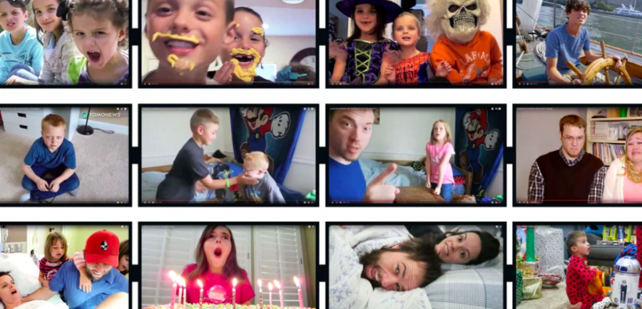 Family vloggers often market their videos with exciting thumbnails to gain more viewers.