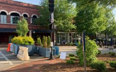 Downtowns West Main Street has been closed to traffic to allow for outdoor seating during COVID-19 restrictions, however the blockage is planned to remain despite loosened restrictions.