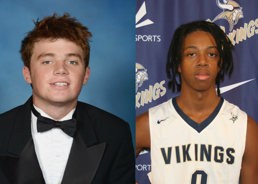 Will Cubitt (12) and Khalid Wannamaker (12), Norse News Male Athletes of the Year.