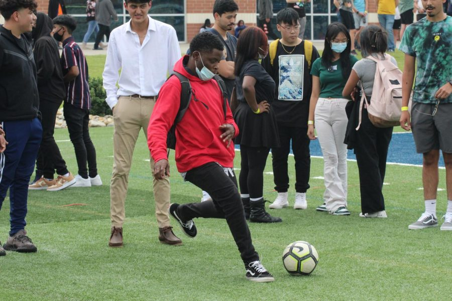 Students enjoyed games like soccer during Fridays Fun Lunch.