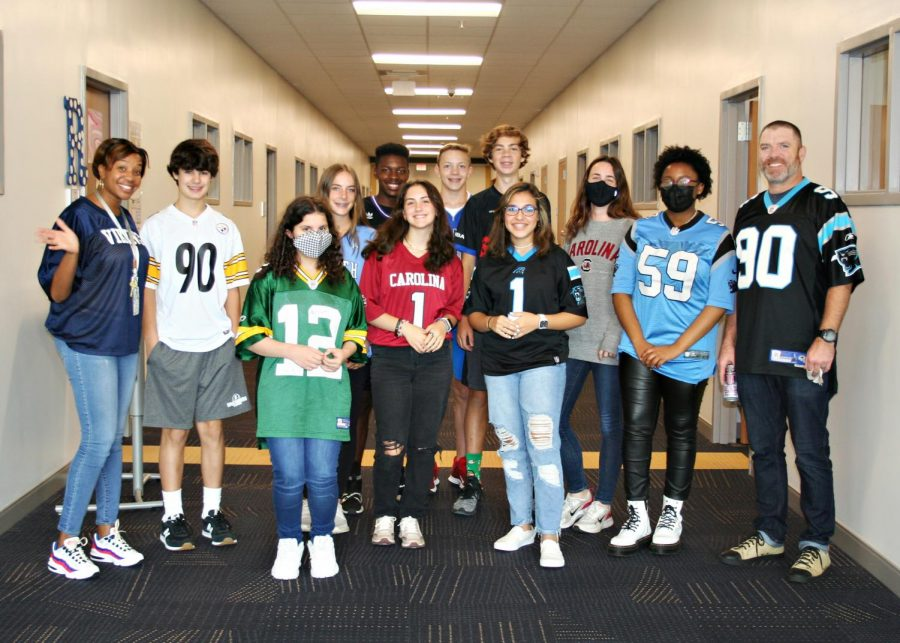 Jersey Day brings out NFL, NBA and other cool jerseys.