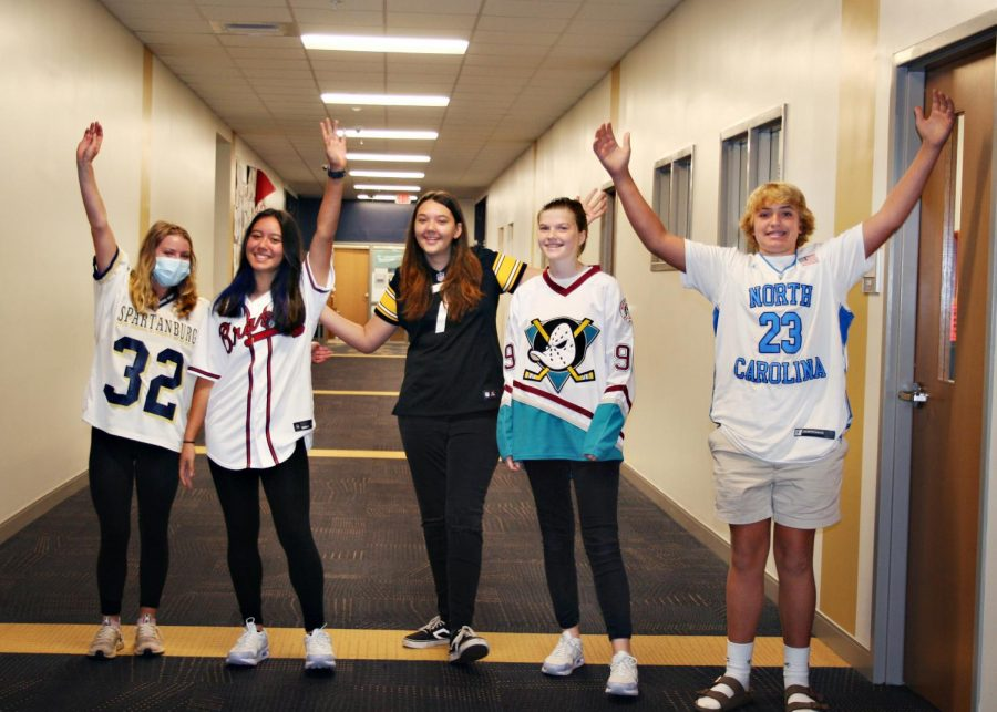 Vikings dress up for Jersey Day during Homecoming week.